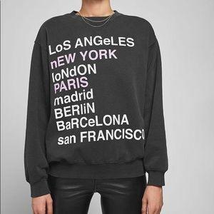 Anine Bing City Love Sweatshirt- medium-brand new